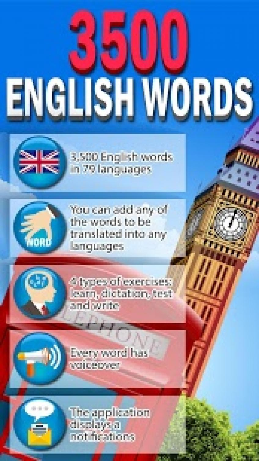 [Android] 3500 English Words v4.3