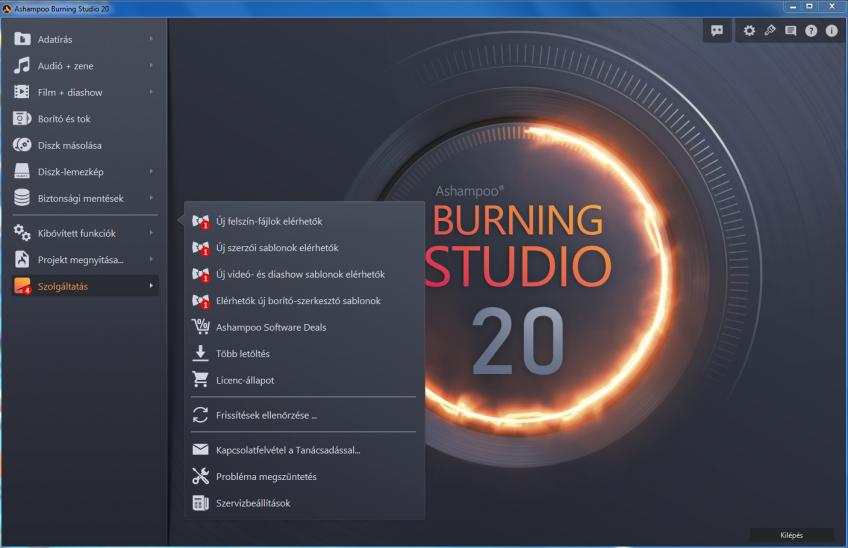 Ashampoo® Burning Studio 20 (v20.0.0.33) Multilingual HUN