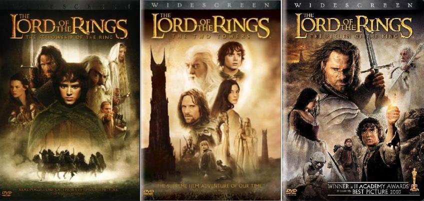 A Gyűrűk Ura - TRILÓGIA (A Gyűrű Szövetsége, A két torony, A király visszatér)