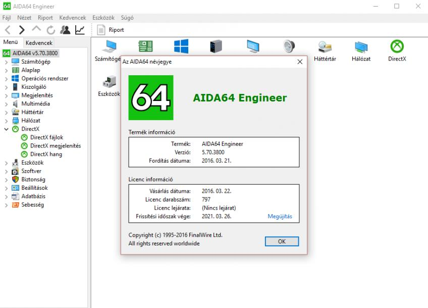 AIDA64 Engineer Edition v5.70.3800 HUN - Portable