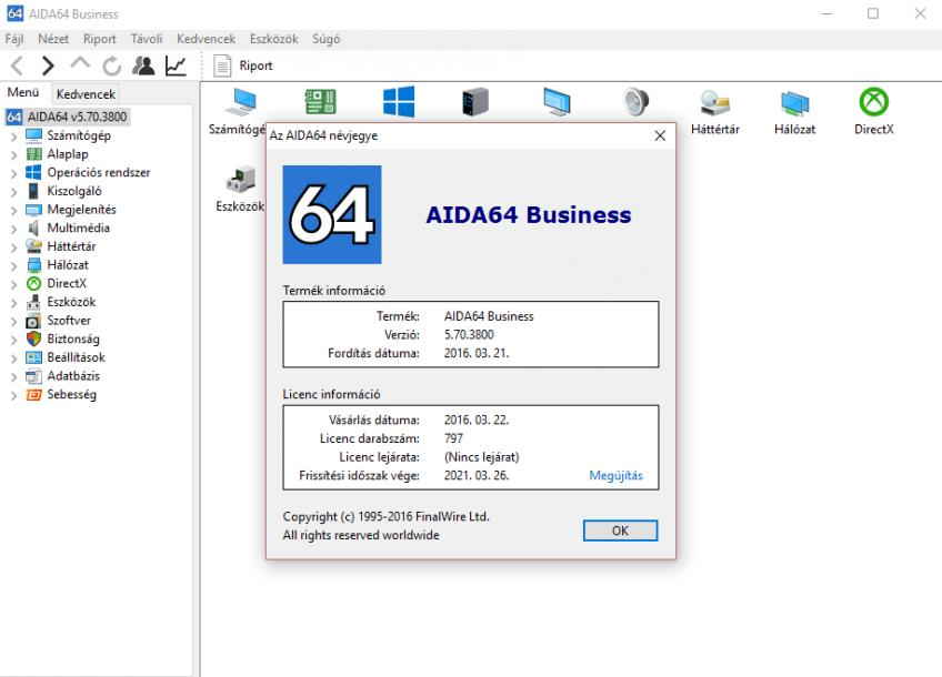 AIDA64 Business Edition v5.70.3800 HUN - Portable