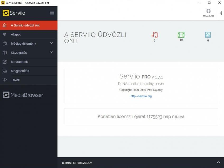 Serviio Pro v1.7.1 HUN