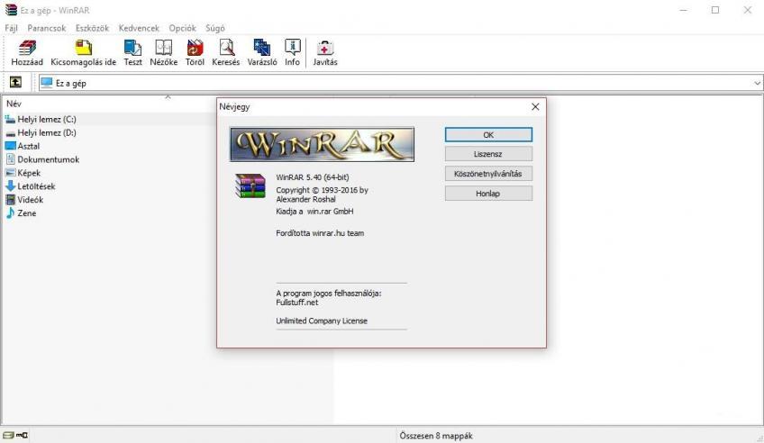 RarLab WinRar v5.40 HUN x86-x64