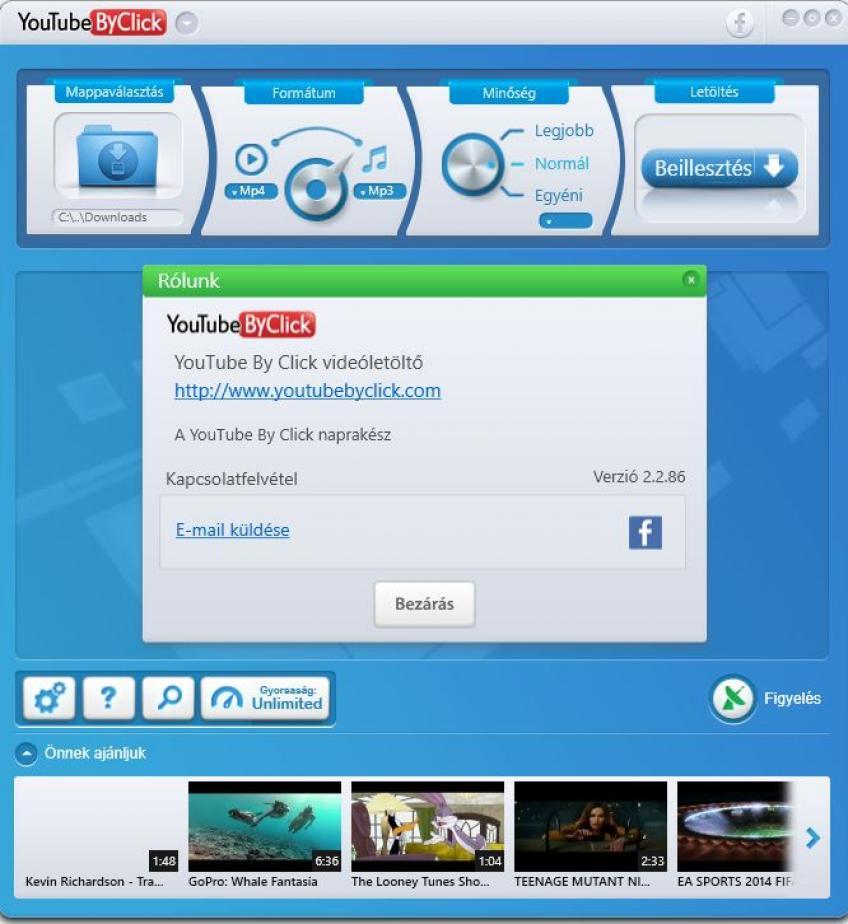 YouTube By Click Portable HUN V: 2.2.86 (x86 & x64)
