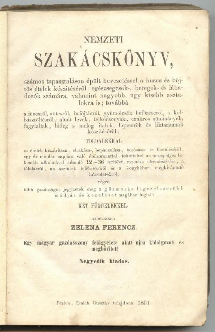 Zelena Ferenc - Nemzeti Szakácskönyv -olvasOM